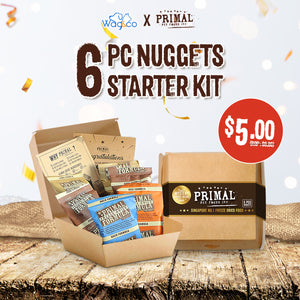 [Primal] 6 Piece Nugget Starter Kit for Dogs (Mystery Prizes to be Won!)