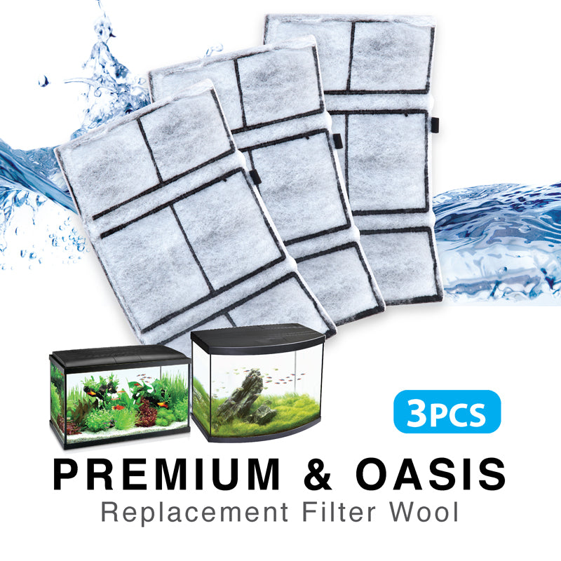 [Resun] 3pcs Replacement Filter Wool for RIPPLES, OASIS, CLEARCUBE and GF400 Filter