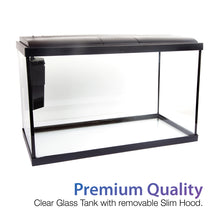 Load image into Gallery viewer, [Resun] 18.9L/56.7L Ripples Premium Aquarium Glass Fish Tank (with Filter and LED Lights)