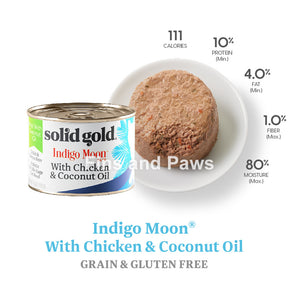 [Solid Gold] Indigo Moon Grain-Free Cat Canned Wet Food 6oz 170g (3 for $10)