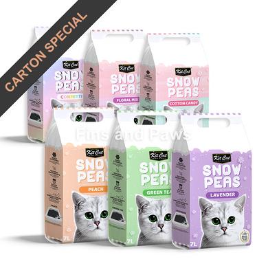 [Kit Cat] Snow Peas Antibacterial Clump Cat Litter (6 Bags)