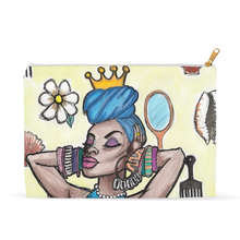 "Load image into Gallery viewer, ""Yemoja"" Flat Accessory Pouches"