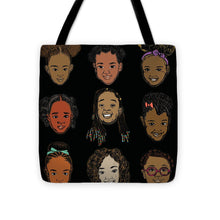 Load image into Gallery viewer, Little Sisters Black - Tote Bag