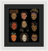 Load image into Gallery viewer, Little Sisters Black - Framed Print