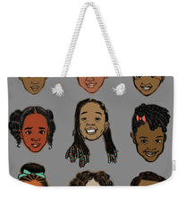 Load image into Gallery viewer, Little Sisters Gray - Weekender Tote Bag