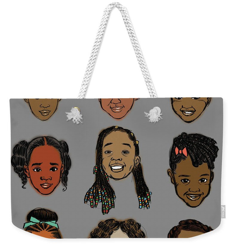 Little Sisters Gray - Weekender Tote Bag