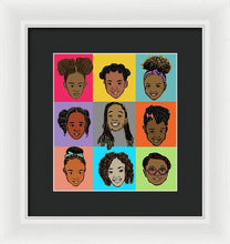 Load image into Gallery viewer, Little Sisters Multi - Framed Print