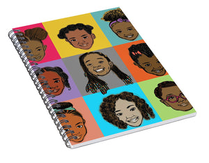 Little Sisters Multi - Spiral Notebook