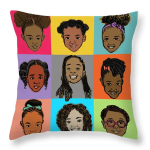 Little Sisters Multi - Throw Pillow