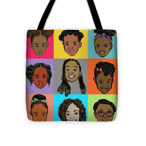 """Little Sisters"" Big-Face Tote Bag"