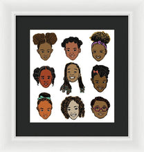 Load image into Gallery viewer, Little Sisters White - Framed Print