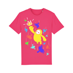 Fall Guys Screen Print T-Shirt (Pink)