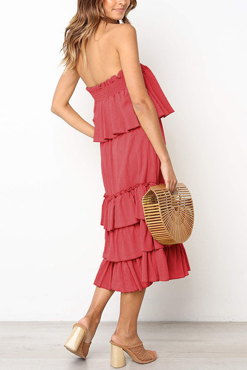 Ruffle Layered Two-piece Dress
