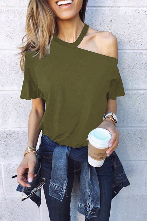 One Shoulder Casual T-shirt