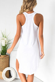 Racer Back Irregular Dress