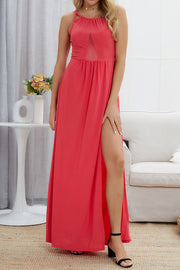 Backless Slit Maxi Dress