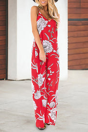 Flower Print Maxi Slip Dress