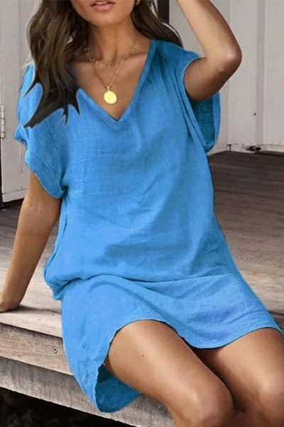 Summer Linen Casual Dress