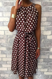 Polka Dots Belted Dress