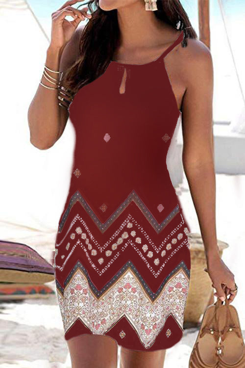 Bohemia Print Holiday Dress