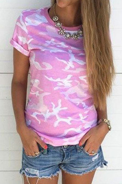 Camouflage Short-Sleeved T-Shirt
