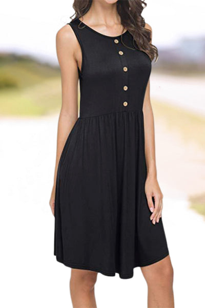 Sleeveless Loose Swing Dress