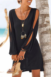 Split Sleeve Casual Dress