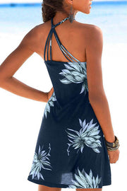 Woven Back Sling Print Dress