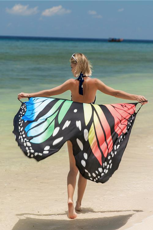 Butterfly Print Cover Up