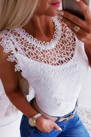 Crochet Splicing Keyhole Back Tee