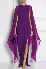 Irregular Hem Chiffon Maxi Dress