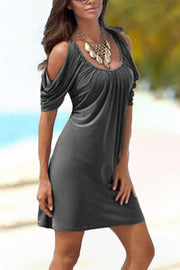Cold Shoulder Slim Dress
