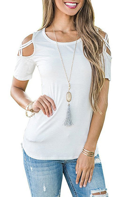 Crisscross Shoulder Straps T-shirt