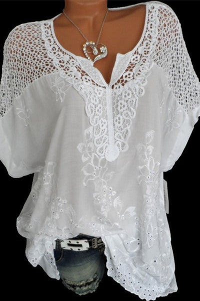 Lacework Splicing T-shirt