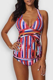 Striped Tankini Set