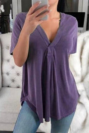 Comfy V-neck Loose T-shirt