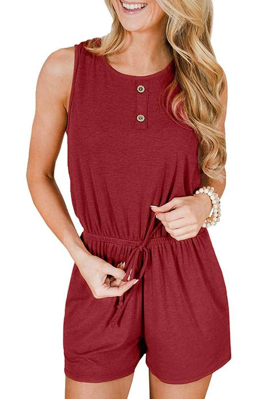 Ribbed Short Playsuit