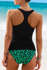 Bohemia Tribal Leopard Print Two-piece Tankini