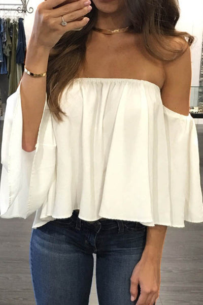 One-Shoulder Strapless Top