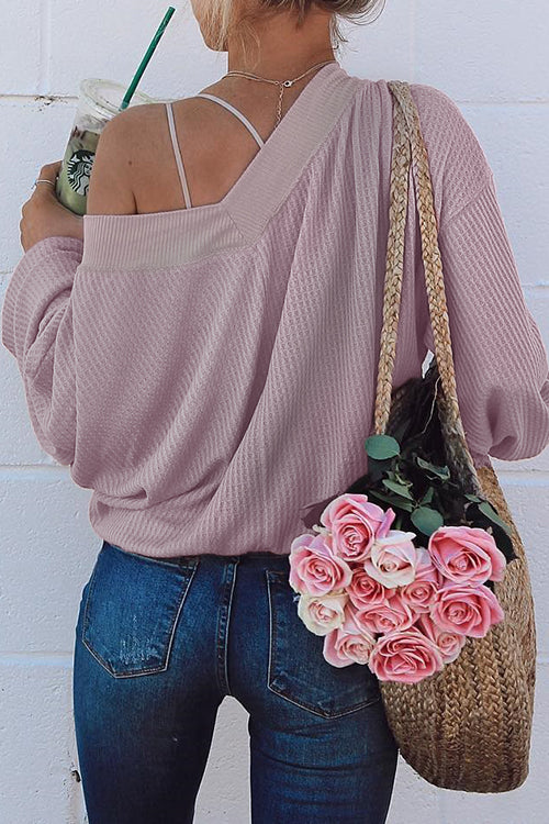 V Neck Strapless Knitwear T Shirt