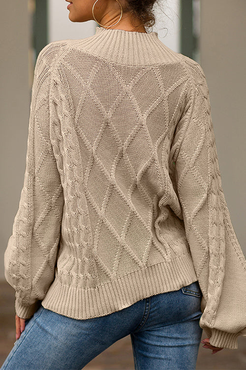 Long Sleeve Loose Knitted Sweater