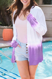 Gradually Discolor Long Sleeve Cardigan