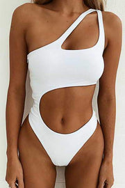Cut Out Midriff Swimsuit