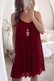 Chiffon Ruched Slip Dress