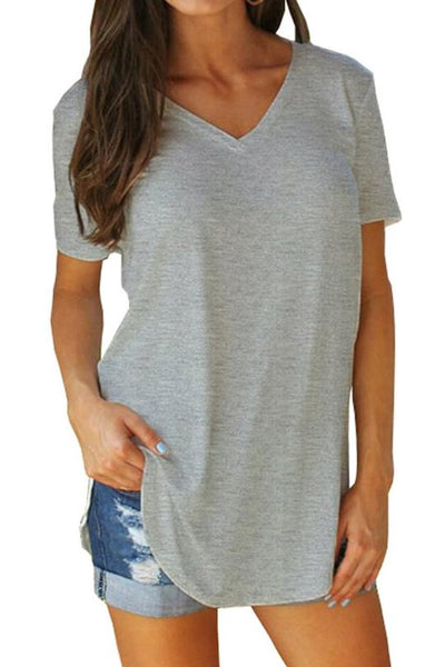 V-neck Casual T-shirt