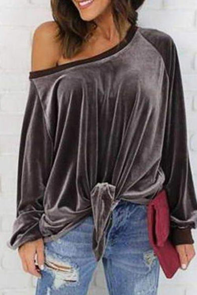 Stylish Tie Velour  Front Top