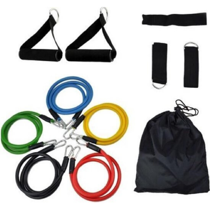 Workout set fitness | Fitness stretch band | Fitness elastiek | Fitness elastiek set | Weerstandsband | Fitness set | Weerstandsbanden