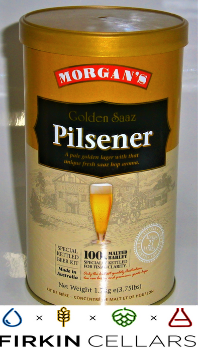 Morgans Premium Golden Saaz Pilsener Extract Beer Tin 1.7kg