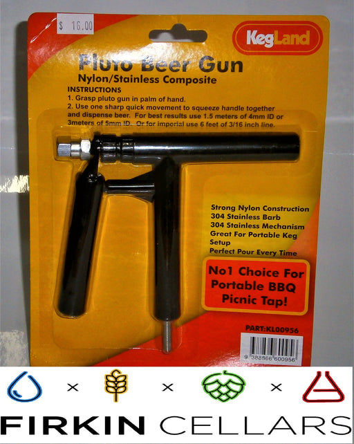 Nylon Reinforced Black Pluto Dispensing Gun (duotight compatible)