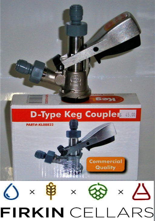 "D-Type Coupler - Stainless Steel With Duotight 5/8"" to 8mm push in Fitting"